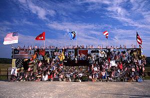 Flight 93 National Memorial - Temporary memorial at the Flight 93 crash site