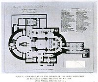 Floor plan of the church