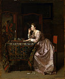 Florent Willems - The Important Response - Walters 37140.jpg