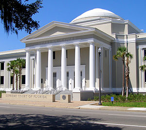 Supreme Court of Florida - The front exterior of the Florida Supreme Court Building in Tallahassee, Florida, in 2011.