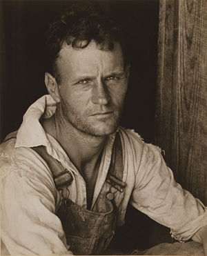 Farm Security Administration - Photo of sharecropper Floyd Burroughs by Walker Evans.