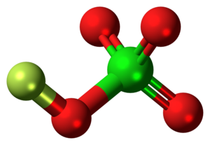 Fluorine perchlorate - Image: Fluorine perchlorate molecule ball