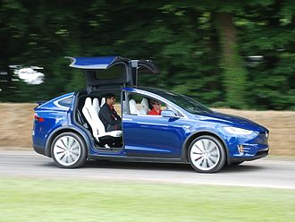 Tesla Model X - The Model X has double hinged falcon doors