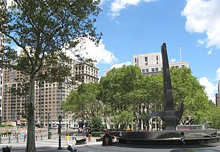 Foley Square intersection and open space in New York City