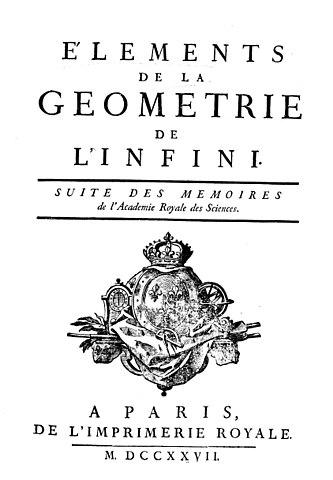 Éléments de la géométrie de l'infini, 1727