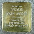 Forbáth Ármin András stolperstein (Budapest-01 Várfok u 14).jpg