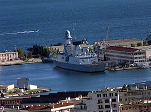 French frigate Forbin - Image: Forbin Frigate 01 at the Toulon harbour