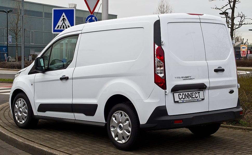 Ford Transit Connect 1.6 TDCi (II) %E2%80%93 Heckansicht, 3. April 2015, D%C3%BCsseldorf