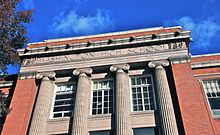 Former Washington HS (Portland, Oregon) in 2013 - entablature showing school name.jpg