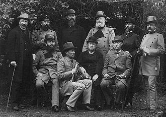 Bernard Altum - Examenskommission des Ministeriums für Landwirthschaft, Domänen und Forsten (Berlin), October 1893 (Altum is the third seated member from the left).