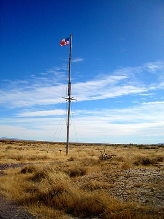 Fort Craig - Flagpole at Fort Craig