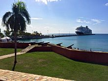 Fort Frederik, St. Croix, USVI -- SW view from seawall cannons.jpg