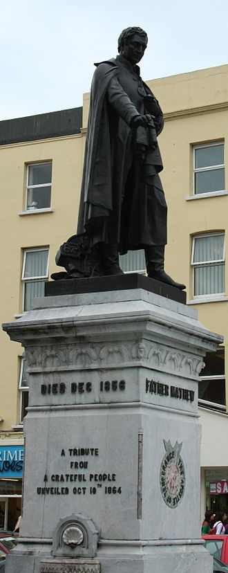Theobald Mathew (temperance reformer) - Father Mathew monument in St. Patrick's Street, Cork