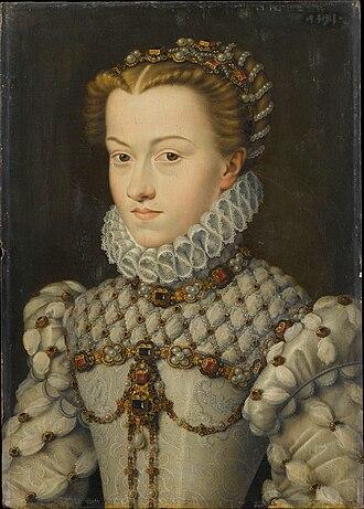 François Clouet - Elisabeth of Austria, c. 1571