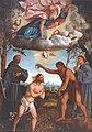 Francesco da Milano - Baptism of Christ with Saints John the Baptist, Francis of Assisi and Anthony of Padua - Church of Saint John the Baptist, Vittorio Veneto.jpg