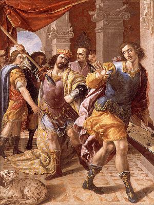 Francisco Fernández (artist) - Saul and David, now in the Museu de Belles Arts de València