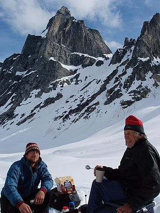 Fred Beckey - Fred Beckey (right) in Alaska, 2005