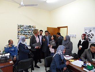 Awn Access to Justice Network in Gaza Strip - Image: Fredrik Westerholm visiting Legal Clinic in PBA