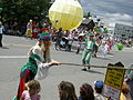 Fremont Solstice Parade 2007 - leprechauns and Sun.jpg