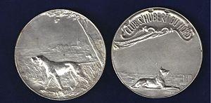 Giacomo Merculiano - French Kennel Club Prize Medal Art Nouveau by Merculiano.