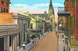 French Quarter-Upper Chartres Street looking towards Jackson Square and the spires of St. Louis Cathedral.jpg