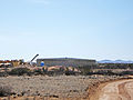 Fresh water storage tank under construction Spaceport America.jpg