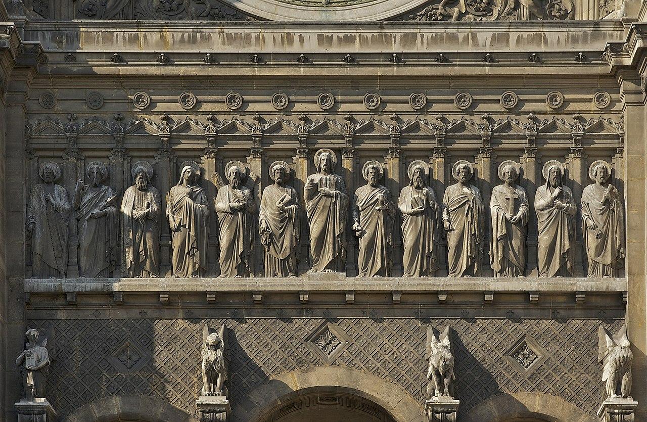 FileFrise Jésus douze apôtres Saint Augustin Parisjpg