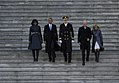 From left, first lady Michelle Obama; President Barack Obama; U.S. Army Maj. Gen. Michael S. Linnington, the commanding general of Joint Task Force-National Capital Region; Vice President Joseph Biden; and Dr 130121-F-AV193-198.jpg