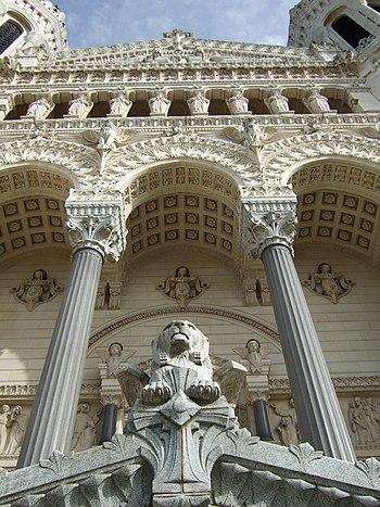 Basilica Notre Dame de Fourviere, Lyon France.