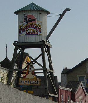 Frontierland, Morecambe - Image: Frontierland entrance sign 2005