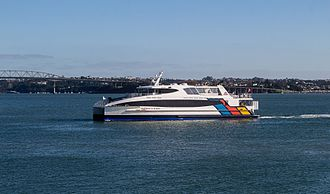 Fullers Group - The Te Kotuku arriving at the Auckland Ferry Terminal
