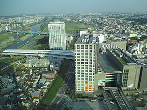 Futako-Tamagawa Station - Futako-Tamagawa Station and Futako-Tamagawa Rise