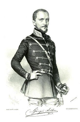 First Battle of Komárom (1849) - Görgey Artúr litográfia Barabás