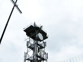 Secondary surveillance radar - Installation of mode S antenna on top of existing primary antenna