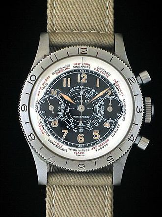 Flight officer - The Gallet Flight Officer Chronograph (1939), commissioned by Harry S Truman's senatorial staff for issue to flight officers and pilots of the US Army Air Forces during WWII.