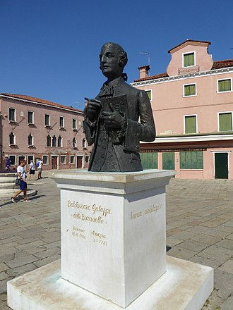 Baldassare Galuppi - Statue of Galuppi in the main square of Burano, the Piazza Galuppi