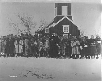 Kautokeino Church - Image: Gamle Kautokeino kyrkje Tromholt
