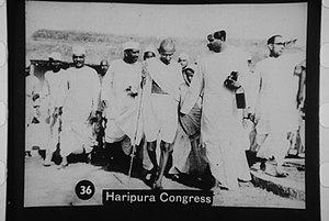Haripura -  Mahatma Gandhi at the 'Haripura Session' of the Indian National Congress