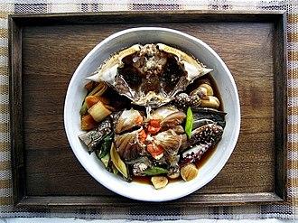 Jeotgal - Image: Ganjanggejang (marinated crab)