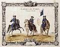 Gardes du corps de la Compagnie de Charost de la Maison du Roy (brigadier, sous-brigadier et porte-étendard).jpg