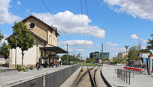 Villeurbanne's station in 2015.