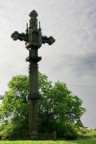Kryždirbystė - A memorial cross in Lithuania