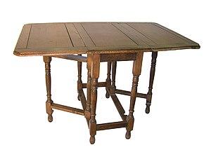 Gateleg table - Example of a gateleg table.
