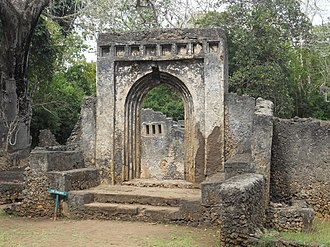 Ruins of Gedi - The palace at Gedi