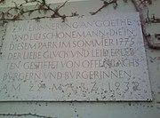 Gedenktafel Goethe Schönemann