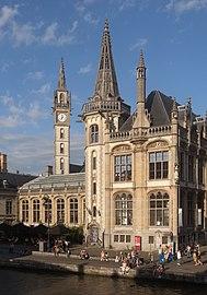 Gent, de toren van het oud Postkantoor oeg25159 IMG 0821 2021-08-15 19.04.jpg