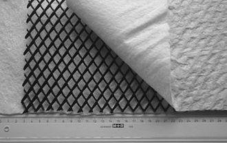 Nonwoven fabric - Image: Geocomposite drain 2