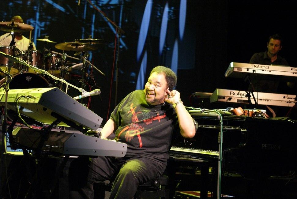 George Duke Performing on Keyboard in 2010