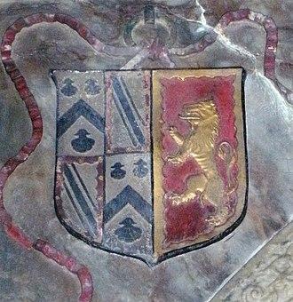 Gilbert Talbot (soldier) - Arms of Sir Gilbert Talbot's granddaughter Elizabeth as wife of Sir John Lyttelton
