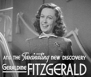 Geraldine Fitzgerald - Dark Victory (1939), Fitzgerald's first American film